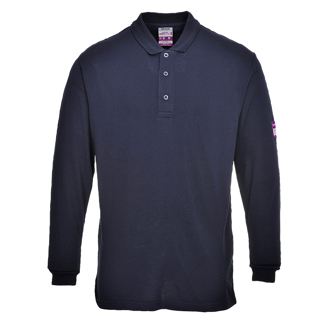 Vlamvertragende Antistatische lange mouw Polo Shirt