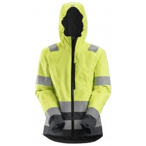 AllroundWork, High-Vis Waterproof Shell Damesjack Klasse 2/3