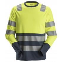 AllroundWork, High-Vis T-shirt met Lange Mouwen Klasse 2
