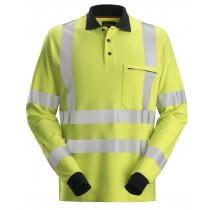 ProtecWork, Poloshirt met Lange Mouwen, High-Vis Klasse 3