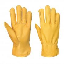 Gevoerde Leren Driver Handschoen