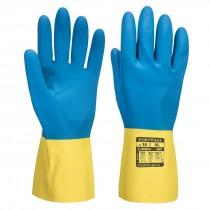 Dubbel gecoate latex handschoen