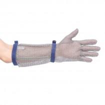 Maliënkolder handschoen met mouw 45cm