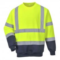 Tweekleuren Hi-Vis Sweatshirt