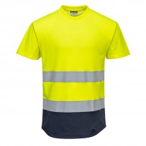 Tweekleurig Mesh T-shirt