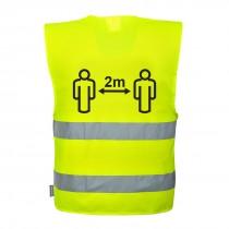 Hi-Vis Social Distance Vest 2m