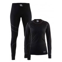 Craft Baselayer Set dames zwart