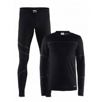 De Craft Baselayer set Heren Zwart