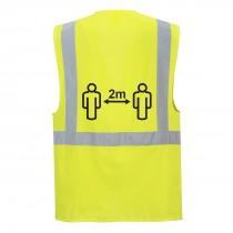 Social distance Executive Vest 2m