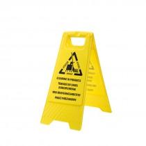Schoonmaakwerkzaamheden waarschuwingsbord