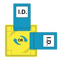 Dual ID houder - opgestikt