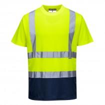 Tweekleuren  T-shirt
