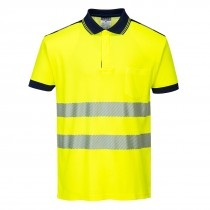 PW3 Hi-Vis Poloshirt Korte Mouw