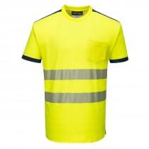 PW3 Hi-Vis Vision T-Shirt Korte Mouw