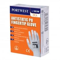 Antistatisch PU Vingertip handschoen voor uitgifteautomaten