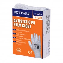 Antistatische PU Palm handschoen voor uitgifteautomaten